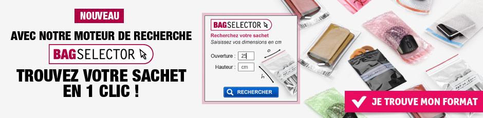 Avec BAGSELECTOR trouvez votre sachet en 1 clic !