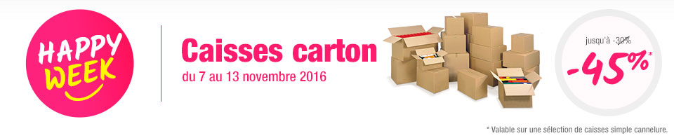 Offres Happy Week - Caisses carton